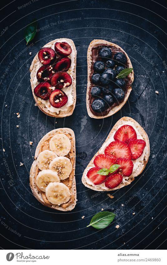 Healthy Eating Dish Dark Food photograph Black Fruit Nutrition Fresh Sweet Delicious Breakfast Bread Chocolate Cream