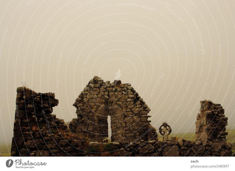 Nature Clouds Calm Dark Death Stone Sadness Rain Religion and faith Fear Fog Island Broken Church Threat Grief