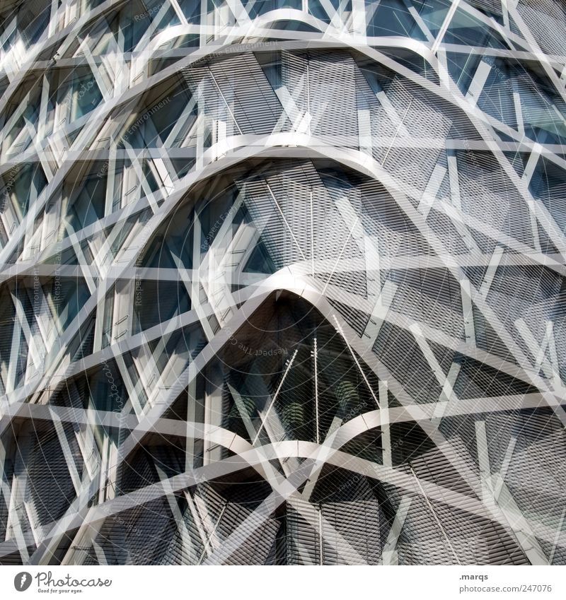 ° Style Design House (Residential Structure) Manmade structures Architecture Facade Glass Metal Line Uniqueness Modern Round Crazy Chaos Perspective Surrealism