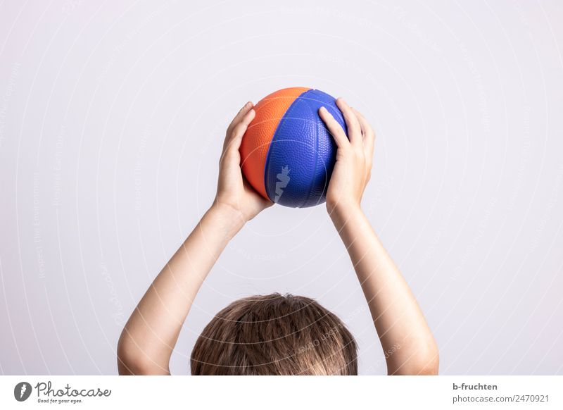 ball game Sports Ball sports Child Head Hair and hairstyles 3 - 8 years Infancy To hold on Playing Leisure and hobbies Joy Tall Movement Colour photo