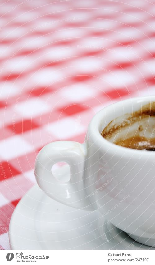 White Red Black Relaxation Small Wet Beginning Beverage Coffee Stand Drinking Hot Crockery Cup Checkered Rag