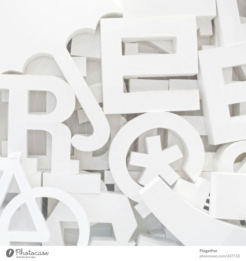 Art Bright Paper Design Academic studies Letters (alphabet) Digits and numbers Many Education Umbrella Typography Cardboard Heap Project Structures and shapes