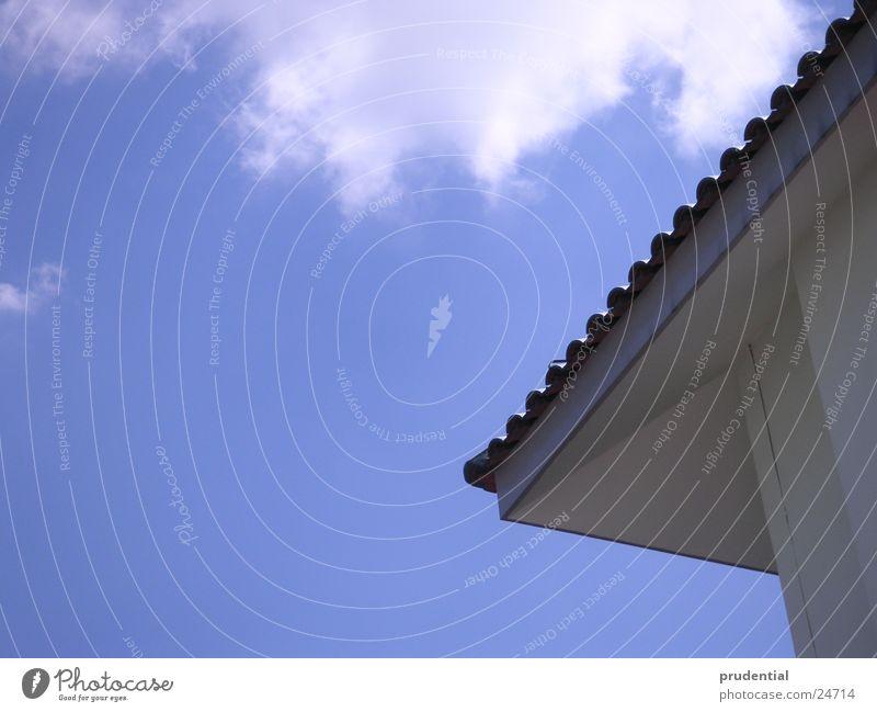 Sky Sun Blue Summer Clouds Architecture Corner Roof Beautiful weather