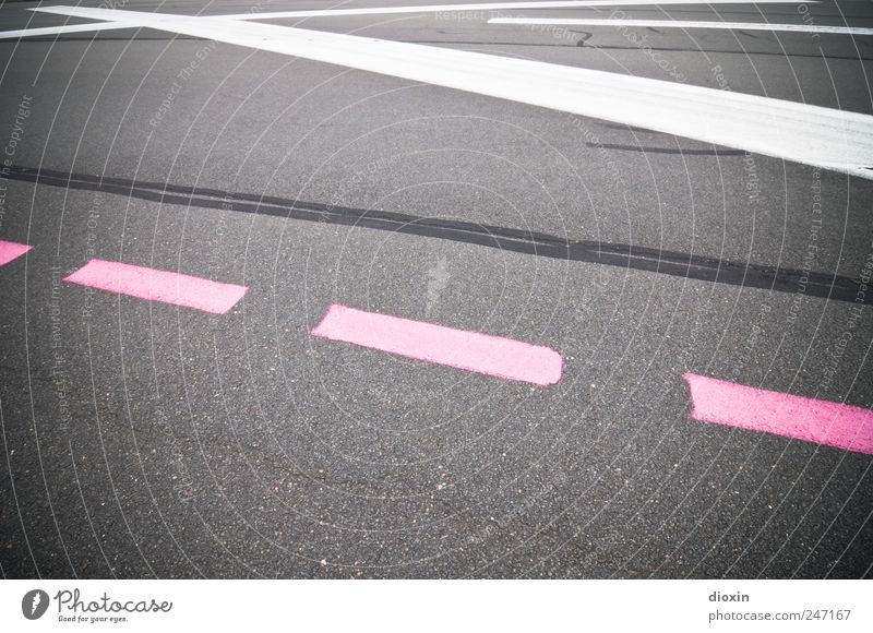 Wind north-east, runway zero-three Airport Transport Means of transport Aviation Airfield Runway Signs and labeling Marker line Gray Pink White Lanes & trails