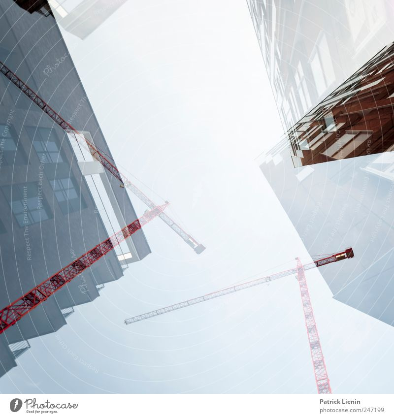 construction site Environment Elements Sky Town House (Residential Structure) High-rise Manmade structures Building Architecture Sharp-edged Tall Competent