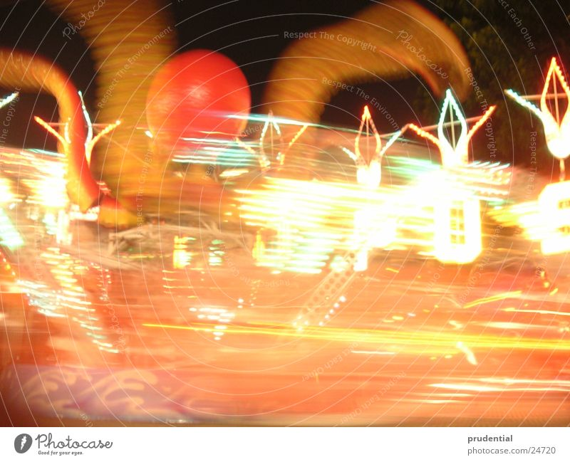 fairground 5 Fairs & Carnivals Carousel Long exposure Dark Services merry-goround roundabout octupus Light Evening