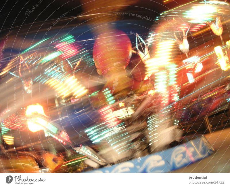 fairground 4 Fairs & Carnivals Carousel Long exposure Dark Services merry-goround roundabout octupus Light Evening