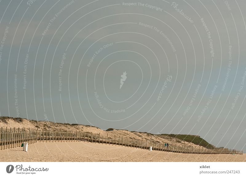 beach Joy Summer Vacation & Travel Beach Ocean Clouds Relaxation Wood Gray Sand Coast Waves Time Bridge Beach dune Portugal
