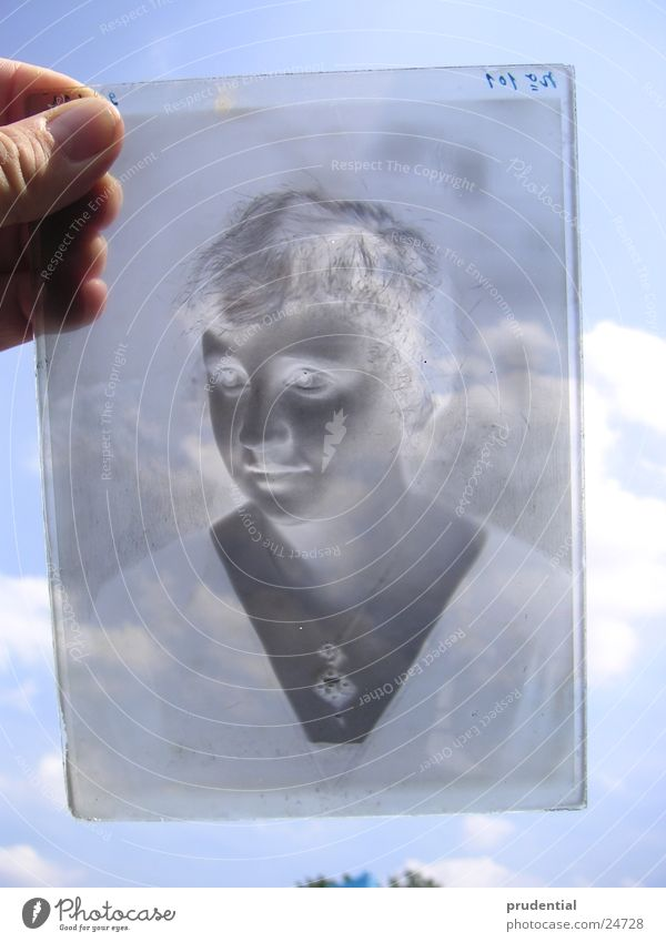negatively Negative Photography Woman Craft (trade) Glass Child Black & white photo Sky