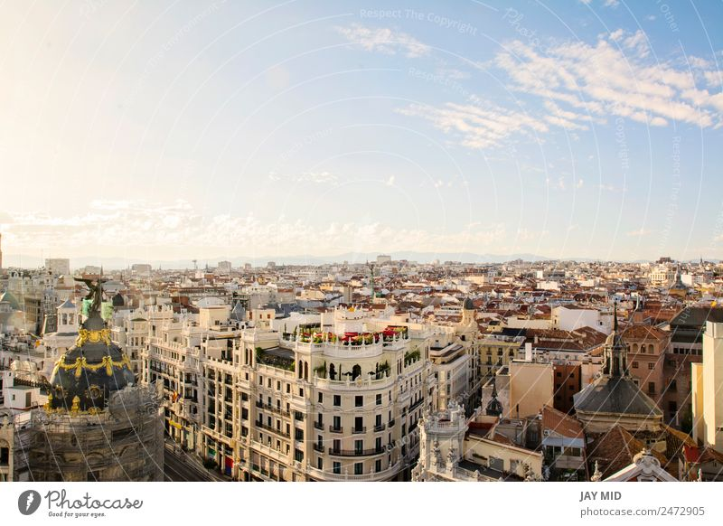 The skyline of Madrid (Spain) from de CBA Vacation & Travel Tourism Landscape Sky Horizon Downtown Old town Palace Building Architecture Terrace Roof Monument