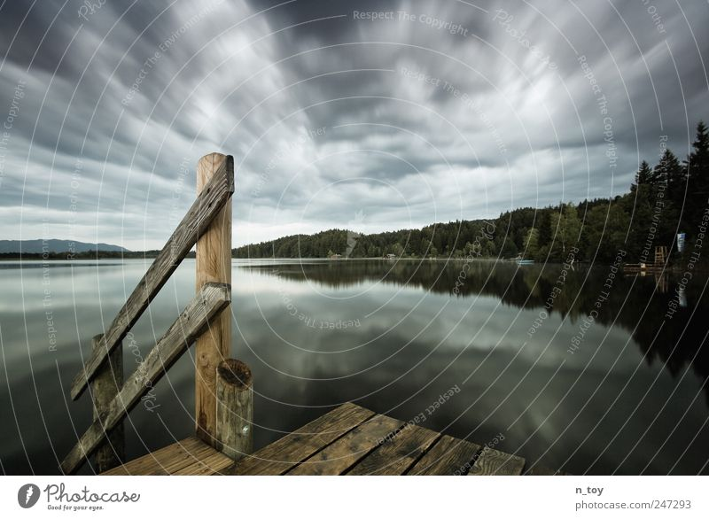 Sky Nature Vacation & Travel Clouds Calm Freedom Emotions Landscape Environment Moody Lake Trip Fog Threat Idyll Discover