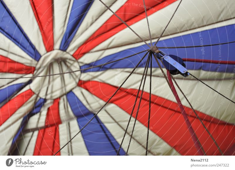 Bleu blanc rouge Leisure and hobbies Freedom Aviation Hot Air Balloon Round Blue White Red Joy Cloth Star (Symbol) Circle Wind Hover Airy Nylon Aircraft
