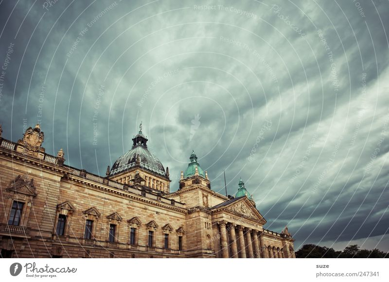 Sky Clouds Environment Dark Architecture Building Germany Weather Might Manmade structures Historic Leipzig Laws and Regulations Sightseeing Dramatic