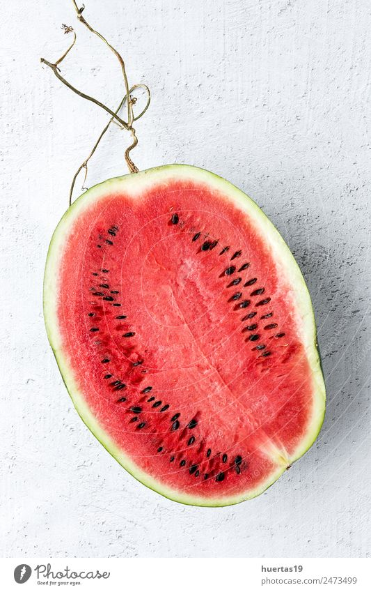 Creative layout made of fresh water melon Food Vegetable Fruit Dessert Nutrition Breakfast Vegetarian diet Diet Juice Delicious Natural Sour Red Water melon