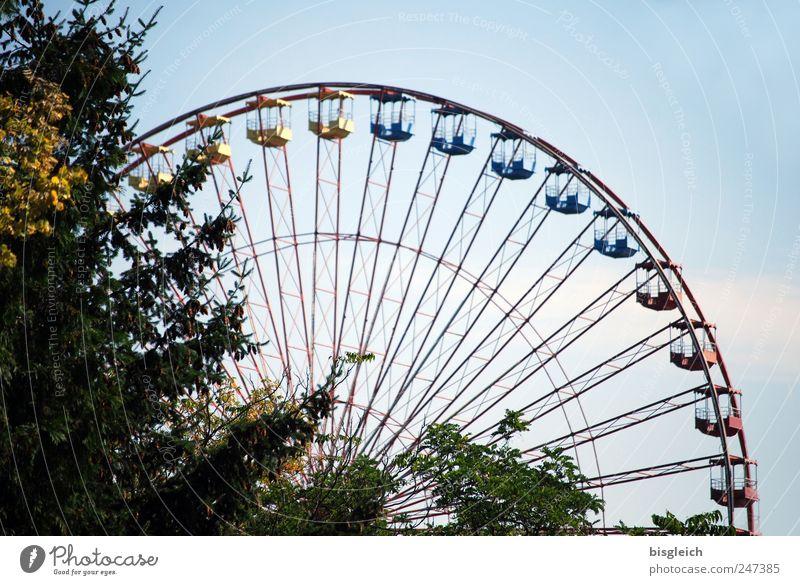Ferris wheel Amusement Park Tree Historic Funny Blue Joy Sky Colour photo Exterior shot Deserted Day Light
