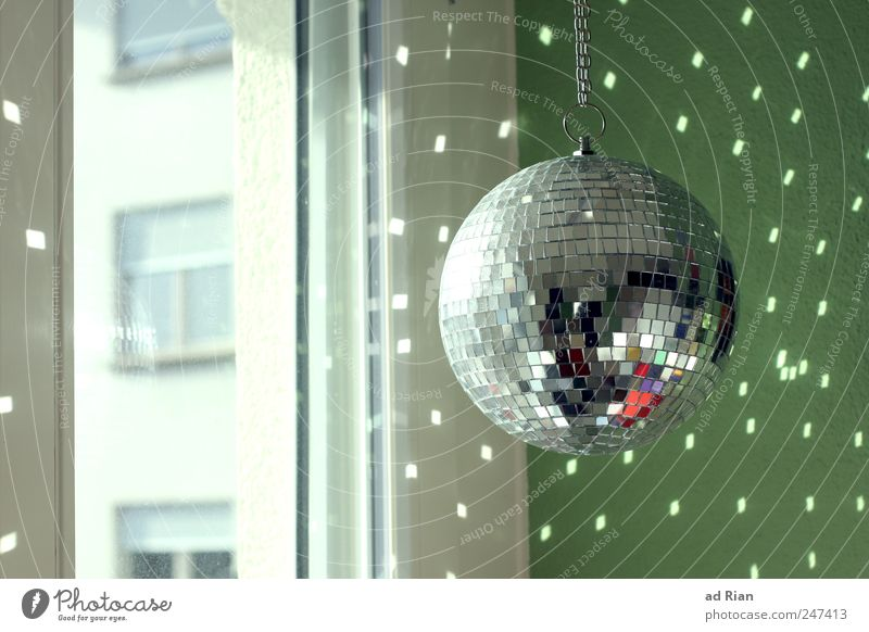 kitchen disco Design Decoration Window Night life Party Club Disco Disco ball Happiness Glittering Colour photo Interior shot Day Light Reflection Sunlight