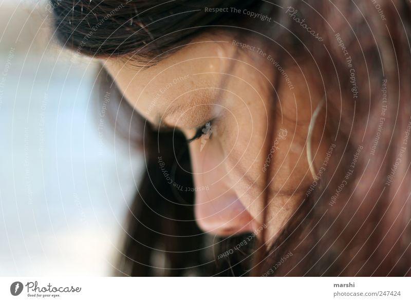 Woman Human being Eyes Feminine Head Hair and hairstyles Style Adults Think Skin Meditative Eyelash Earring