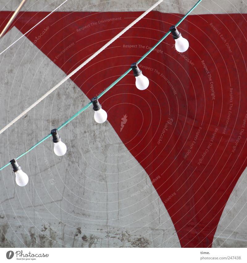 Red Gray Lamp Lighting Dirty Cable Illuminate String Hang Electric bulb Tent Electronic Gap Electronics Arranged Tarpaulin