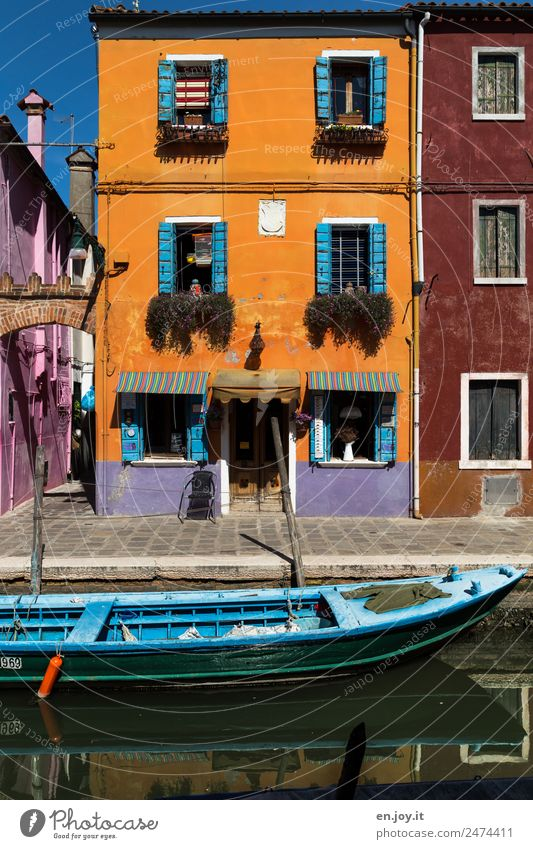 discreet Lifestyle Vacation & Travel Trip Sightseeing City trip Summer vacation Burano Venice Italy Village Fishing village Old town
