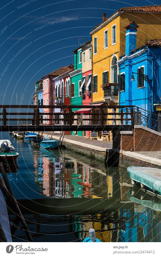 Vacation & Travel Colour House (Residential Structure) Lanes & trails Tourism Facade Trip Living or residing Europe Idyll Island Bridge Italy Tourist Attraction