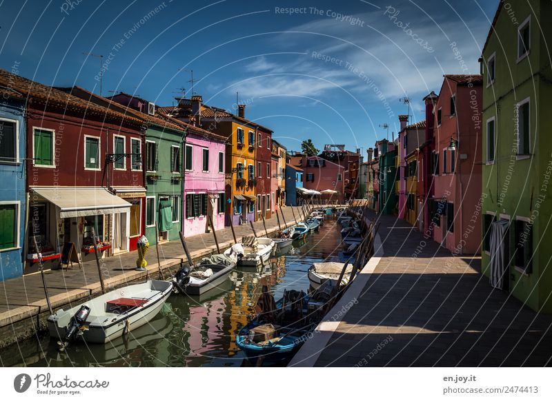 Vacation & Travel Colour House (Residential Structure) Lanes & trails Tourism Facade Trip Europe Idyll Island Italy Tourist Attraction Sidewalk Summer vacation