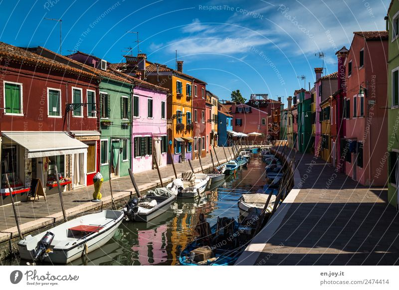 The calm before the storm Vacation & Travel Tourism Trip Sightseeing City trip Summer vacation Burano Venice Italy Europe Village Fishing village Small Town