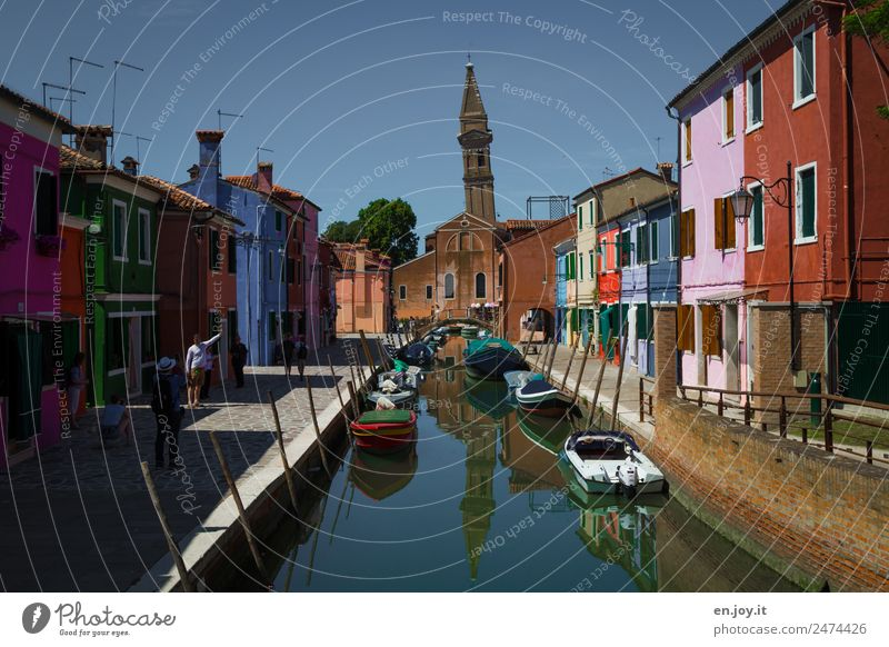Vacation & Travel Summer Town House (Residential Structure) Tourism Trip Church Happiness Joie de vivre (Vitality) Italy Summer vacation City trip Old town