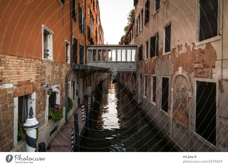 overcome rifts Vacation & Travel Sightseeing City trip Venice Italy Town Old town House (Residential Structure) Bridge Building Facade Waterway Channel Dirty