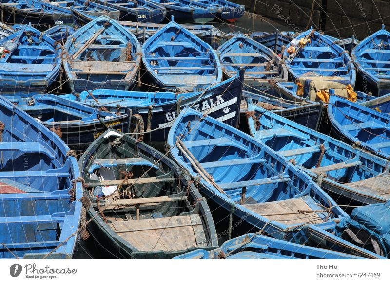 Water Blue Summer Ocean Vacation & Travel Wood Coast Poverty Fish Authentic Harbour Navigation Fishing (Angle) Exotic Fisherman Fishing boat