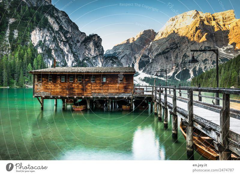 Un passo dal cielo Vacation & Travel Tourism Trip Adventure Summer Summer vacation Mountain Nature Landscape Alps Dolomites Peak Lake Pragser Wildsee Lake Italy