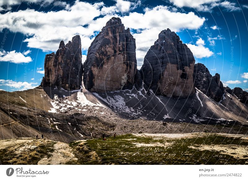 THE Three Peaks View Vacation & Travel Tourism Trip Adventure Far-off places Summer Summer vacation Mountain Hiking Nature Landscape Climate Climate change Rock