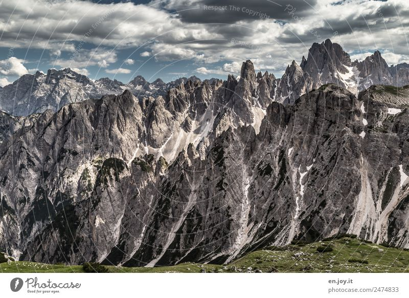 jutting Vacation & Travel Trip Adventure Far-off places Summer vacation Mountain Hiking Nature Landscape Elements Climate Climate change Rock Alps Dolomites