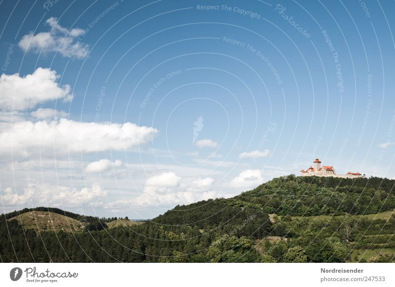 Thuringia Tourism Trip Culture Landscape Sky Clouds Beautiful weather Forest Tourist Attraction Landmark Might Planning Tradition Town Past wachsenburg