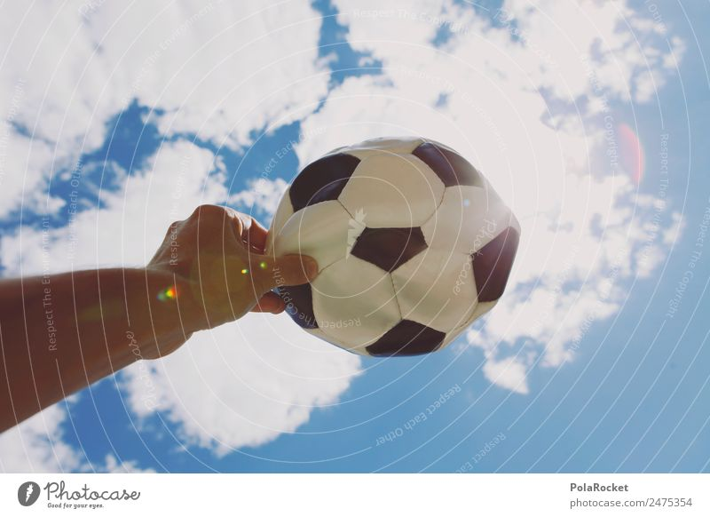 #A# WM heaven Art Esthetic Soccer Foot ball Table soccer Soccer training Broken Air World Cup wm 2018 To hold on Phenomenon Black & white photo Hand