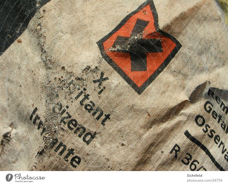 Old Sand Brown Paper Trash Cardboard Poison Grade (school level) Close-up Washed out Special waste