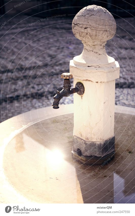 Water Old Calm Playing Lamp Gold Glittering Drinking water Well Village Italy Historic Ancient Trend Work of art Remote