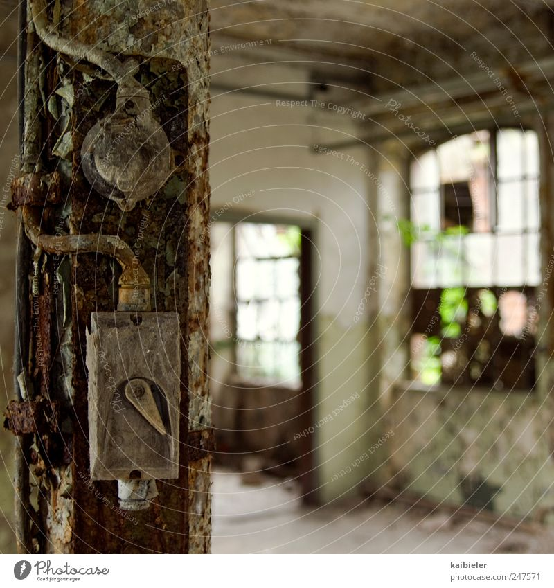 Old Wall (building) Window Wall (barrier) Building Brown Break Transience Factory Derelict Historic Past Rust Decline Switch Industrial plant