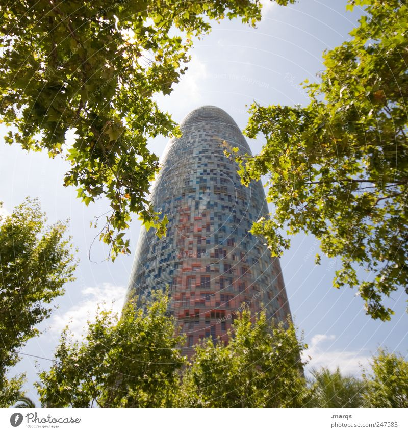PHALLUS Vacation & Travel Tourism Sightseeing City trip Summer vacation Tree Bushes Barcelona Spain Manmade structures Building Architecture Tower
