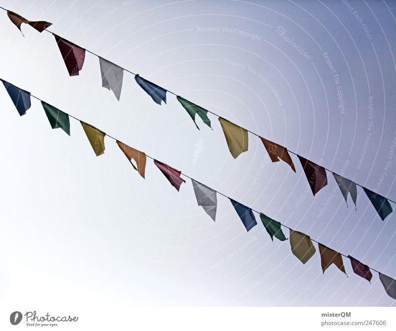 Sky Religion and faith Art Wind Esthetic Flag Carnival Row Blow Public Holiday Festive Versatile Paper chain Tibet Beaded Prayer flags