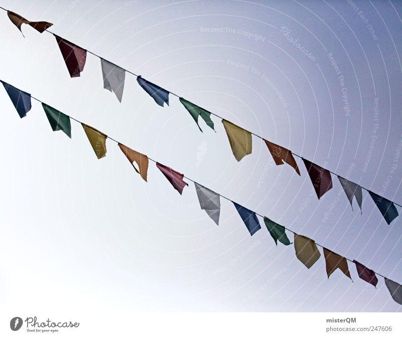 wind-borne Art Esthetic Flag Tibet Prayer flags Multicoloured Versatile Blow 2 Paper chain Festive Sky Religion and faith Public Holiday Carnival Row Beaded