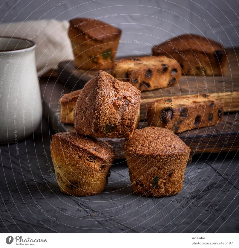 small round baked cupcakes Fruit Bread Cake Dessert Candy Eating Small Brown Black Tradition Dried background Sugar sweet piece Home-made Baking Pie loaf