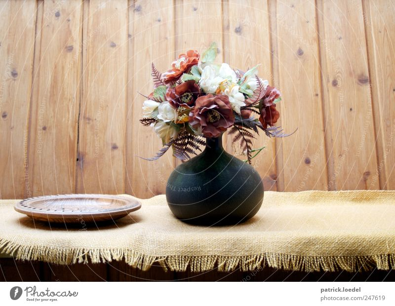 Old Flower Calm Yellow Relaxation Wood Brown Flat (apartment) Authentic Living or residing Retro Decoration Middle Fragrance Bouquet Blanket