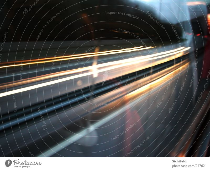 journey through time Exposure Transport Light Long exposure Vacation & Travel Bus Street