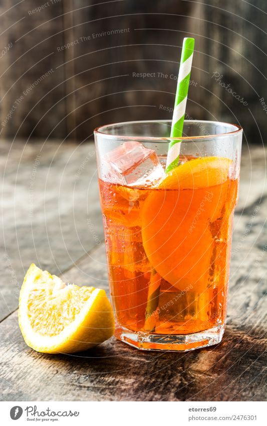 Aperol spritz cocktail Beverage Cold drink Alcoholic drinks Longdrink Cocktail Glass Fresh Good Juicy Sweet aperol Spritzer Orange Summer Refreshment Fruit