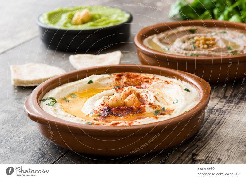 Different hummus bowls Food Vegetable Grain Nutrition Lunch Vegetarian diet Asian Food Bowl Healthy Good Brown Green Chickpeas Legume Healthy Eating Lentils