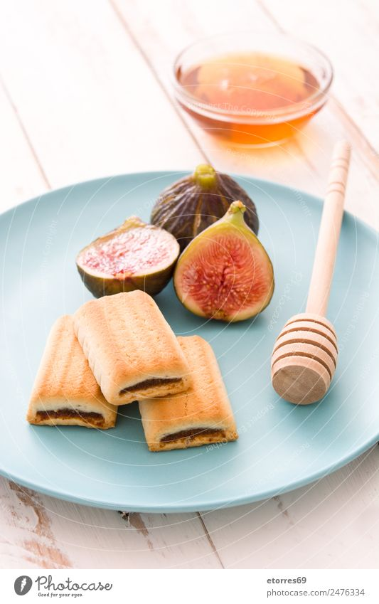 Fig cookies on white wooden table Healthy Eating Food photograph Wood Fruit Fresh Sweet Dessert Vitamin Snack Cookie Tropical Raw
