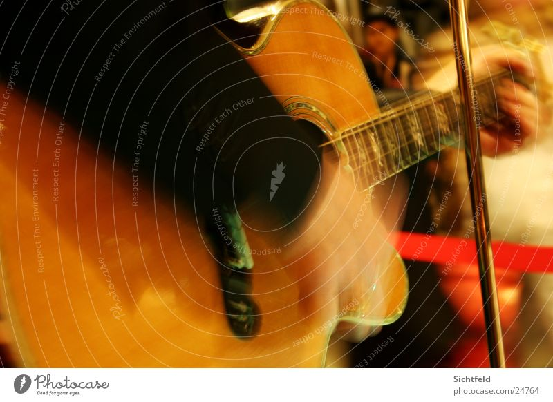 Live Guitar/Flamenco Concert Hand Music Light Man convert guitar Movement Human being Musician