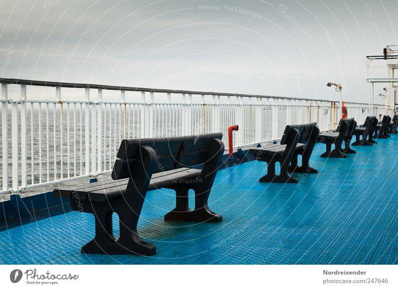 Fine rain from NW Calm Logistics Clouds Storm clouds Weather Bad weather Wind Rain Baltic Sea Ocean Navigation Passenger ship Ferry Observe Freeze Dark Blue