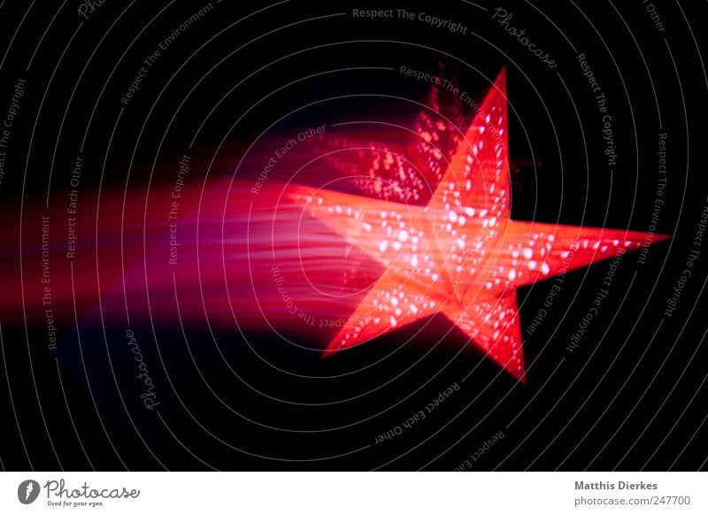 OFF Decoration Sign Exotic Fantastic Beautiful Stars Starry sky Star (Symbol) Christmas star Christmas & Advent Movement Motion blur Violet Red Ornate