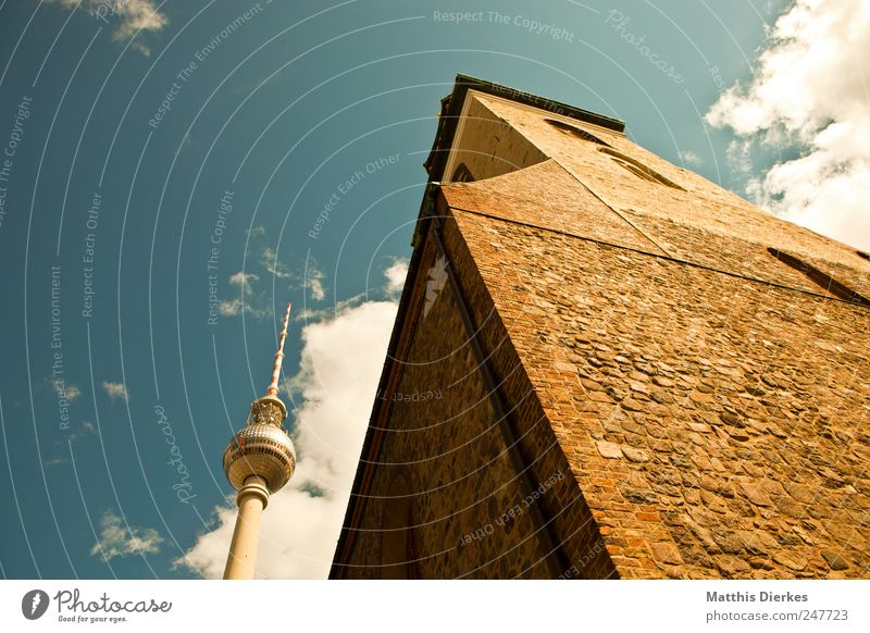 Sky Old City Berlin Tall Tourism Church Monument Landmark Downtown Tourist Downtown Berlin Capital city Dome Tourist Attraction Berlin TV Tower